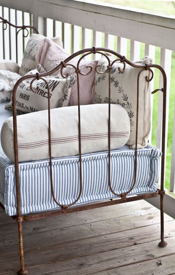 French Crib Conversion | Pinterest | Settees, Crib and Porch