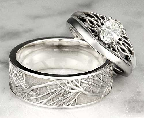 trend of plain metal wedding bands