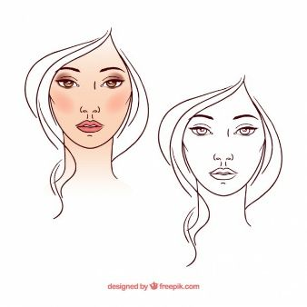 Beautiful woman in sketchy style