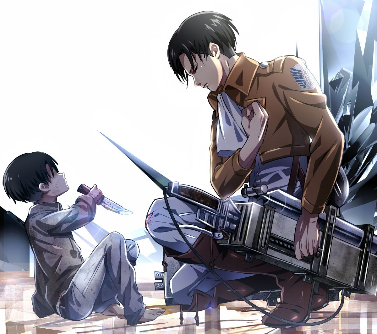 Attack on Titan ~~ Levi salutes his younger self :: [Shingeki no