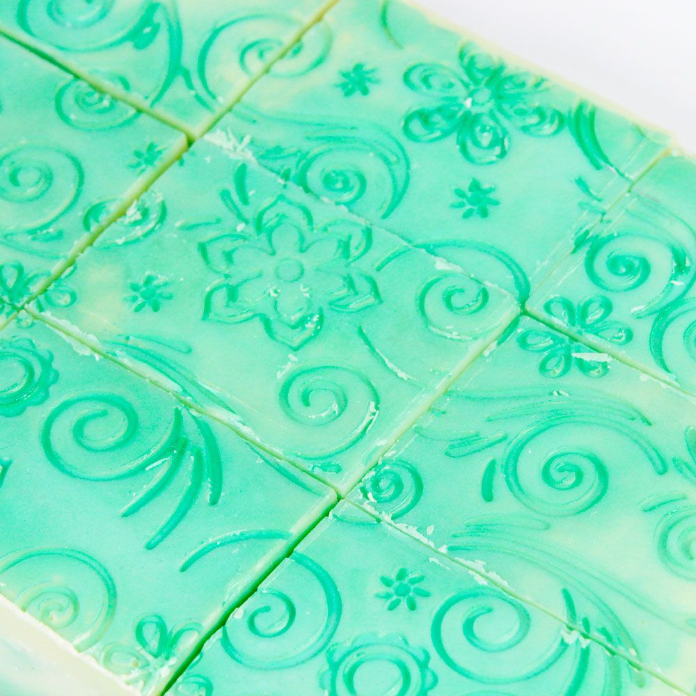 Flowers and Spirals Silicone Impression Mat
