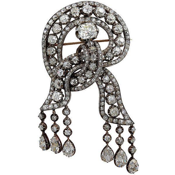 British Royal Family Diamond Brooch - Yafa Signed Jewels found on Polyvore