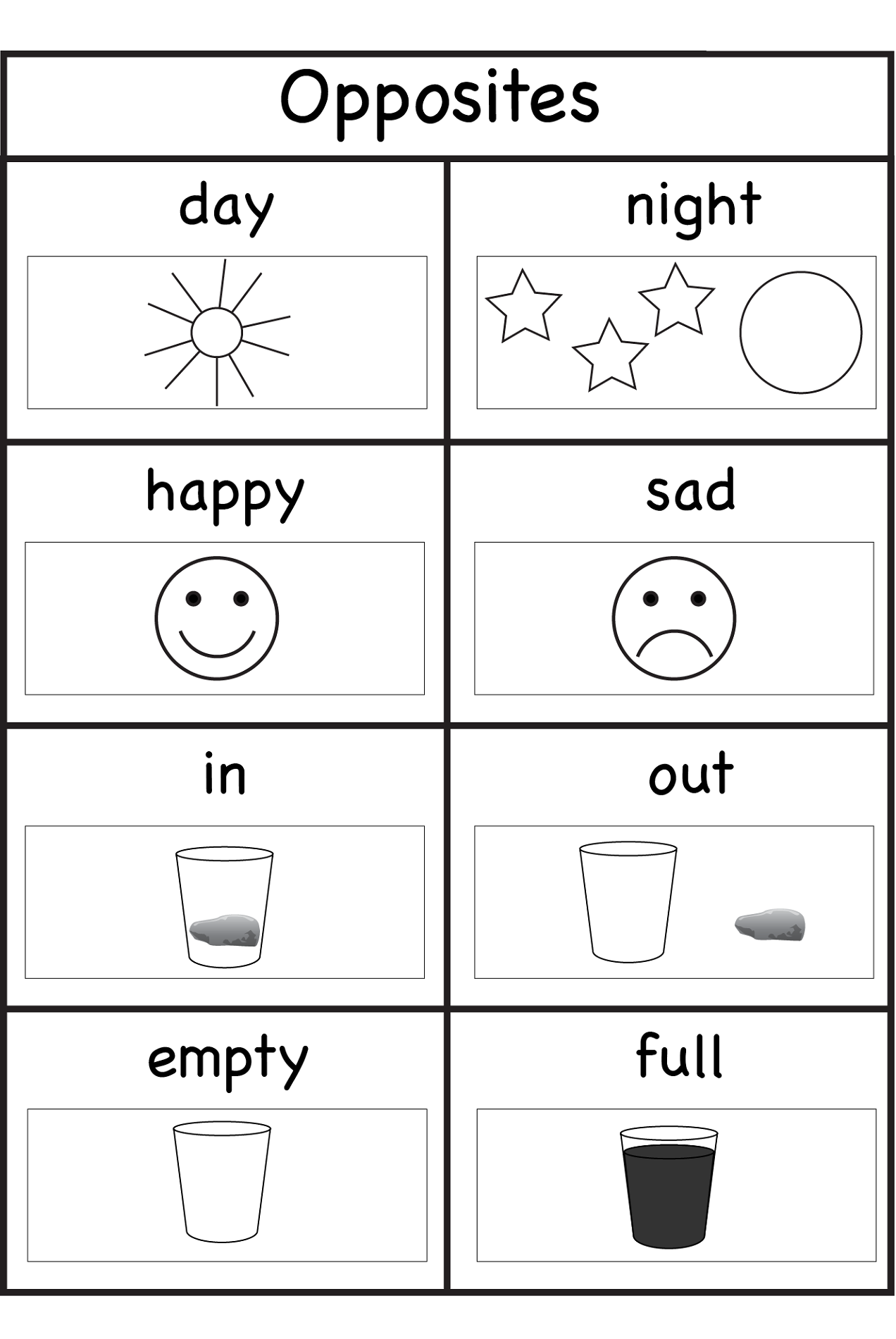 picture about Worksheets for 4 Year Olds Free Printable identify worksheets for 4 calendar year olds opposites Training Preschool