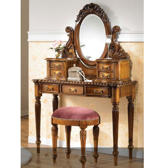 LOUIS Philippe Bedroom Vanity, Antique Vanities from mahogany Solid Wood  feature with Louis style and - LOUIS Philippe Bedroom Vanity, Antique Vanities From Mahogany Solid