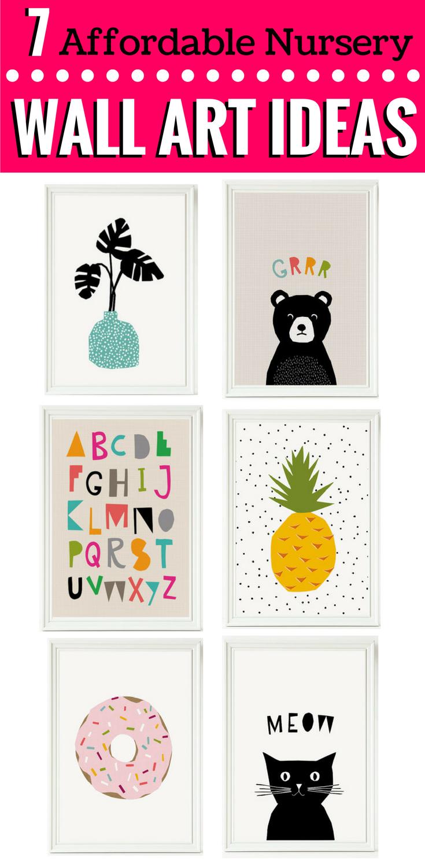 7 affordable nursery wall art ideas pinterest nursery pregnancy