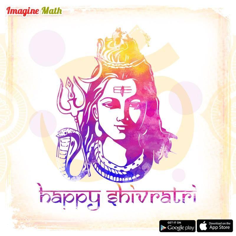 We wish you all a very Happy Shivratri. ImagineMath