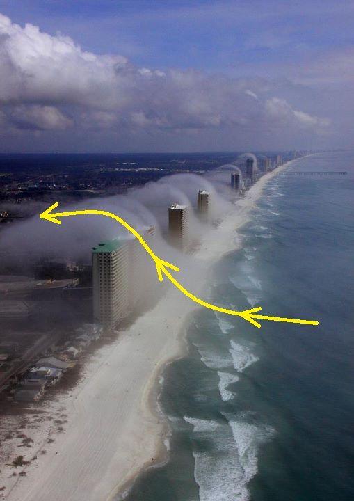 Condo Induced Fog, Panama City Beach, Florida