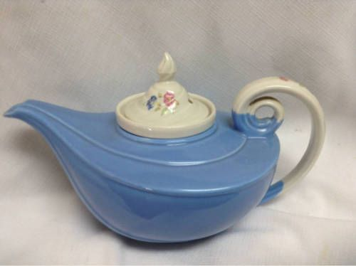 Hall Kitchenware Aladdin Shape Morning Glory Teapot Blue Infuser Included  In Pottery U0026 Glass, Pottery U0026 China, China U0026 Dinnerware