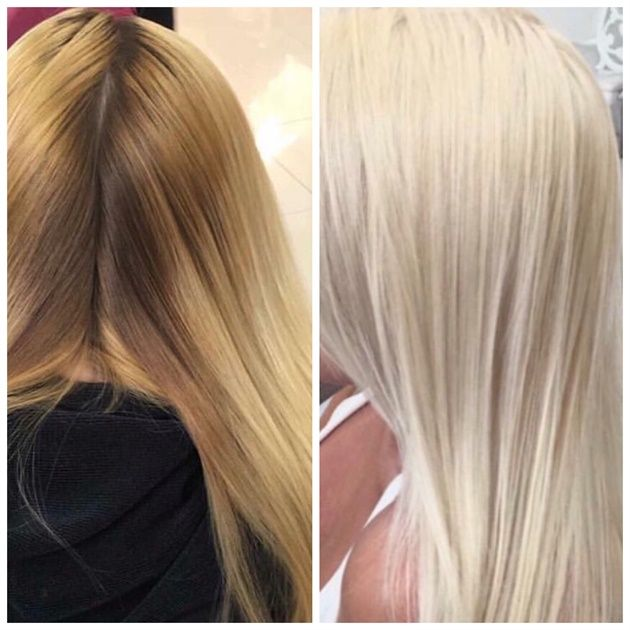 Color Correction Saving A Box Blonde Bright Blonde Hair Color