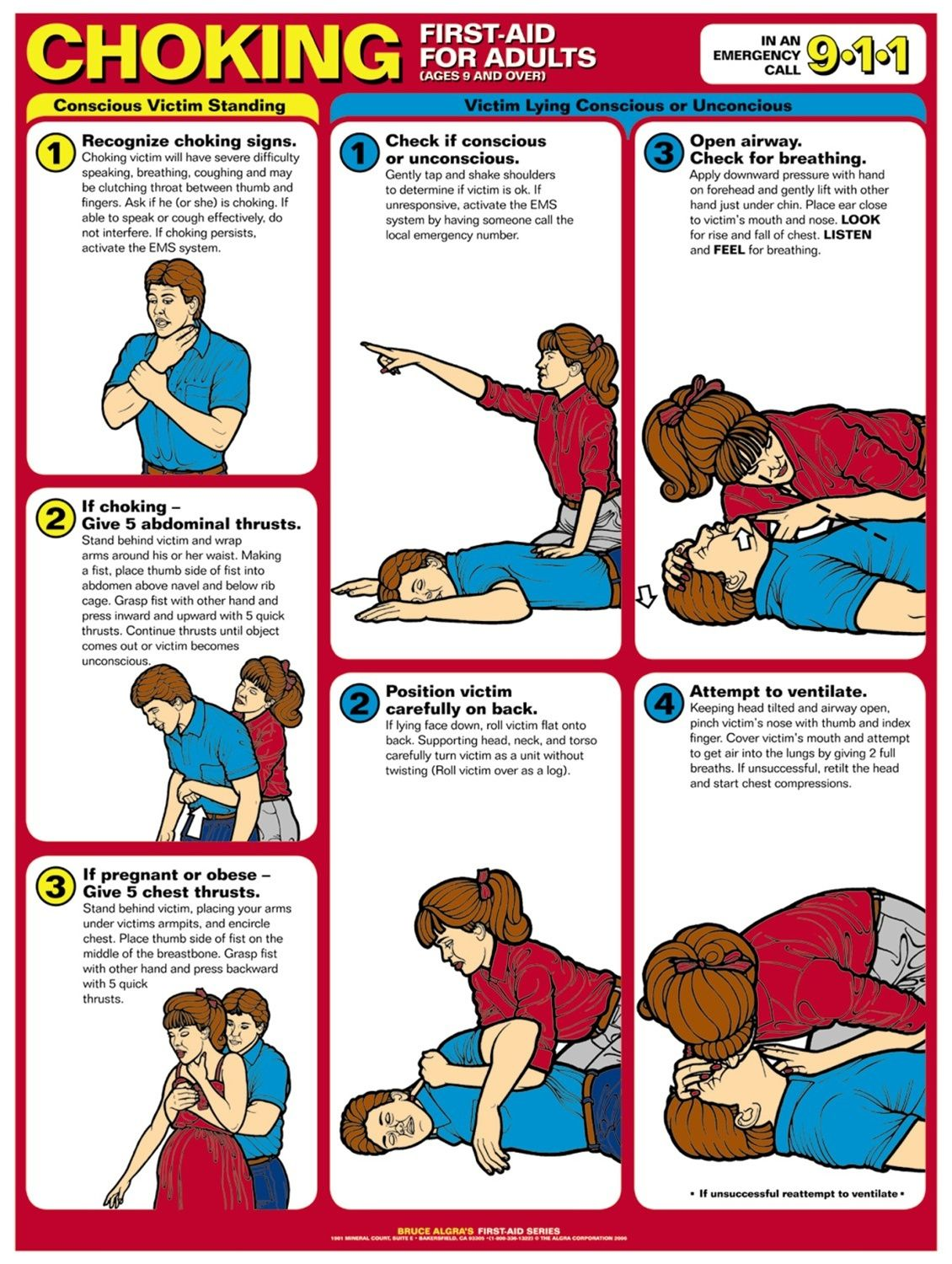 Printable First Aid And Cpr Choking First Aid First Aid
