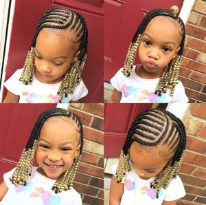 Easy Kids Braided Hairstyles Ideas With Beads Kids Braided Hairstyles Kid Braid Styles Braids For Kids