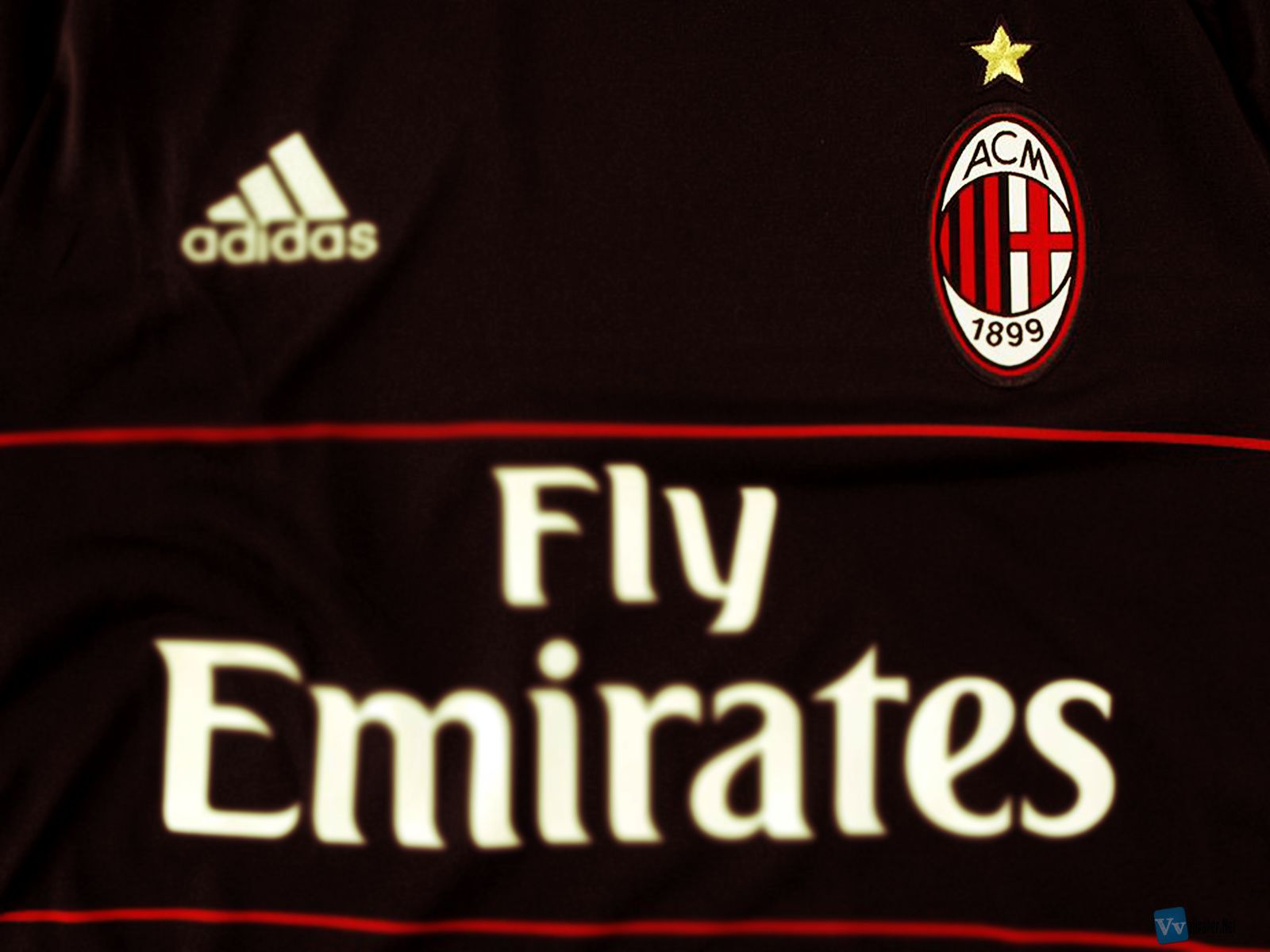 Hd wallpaper ac milan - Ac Milan Black Adidas Uniform Hd Wallpaper