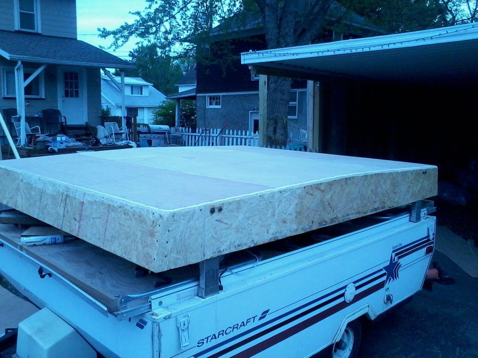 Pop up complete roof rebuild.. survivalcamper Coleman