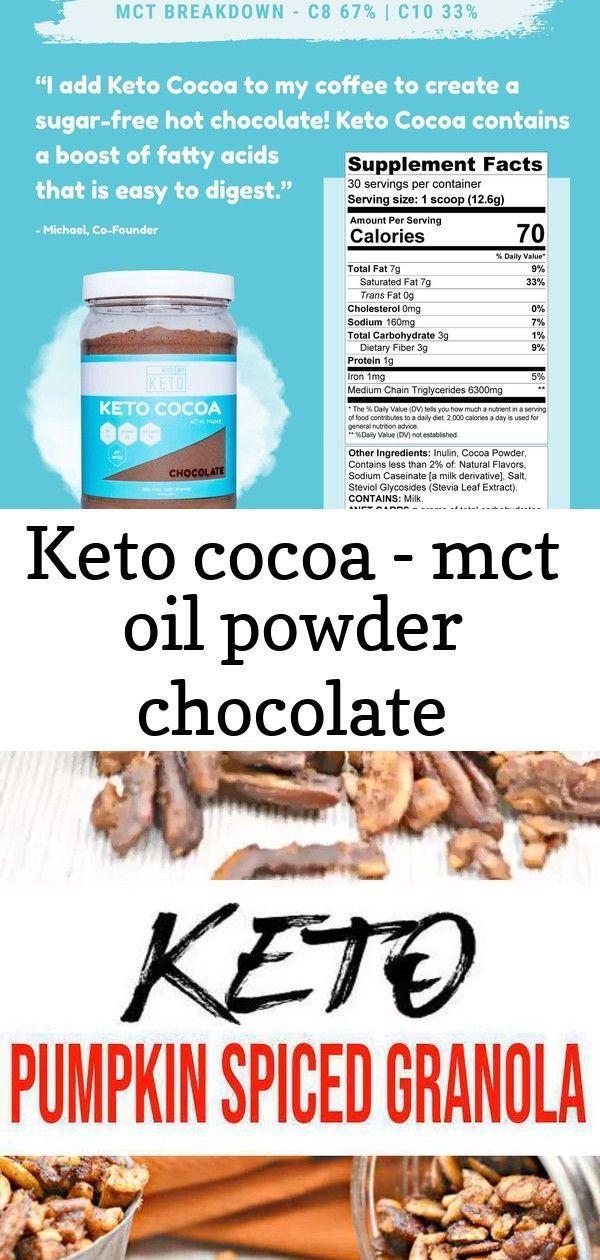Keto cocoa - mct oil powder chocolate #pumpkinspiceketocoffee Keto Cocoa - MCT Oil Powder Chocolate....