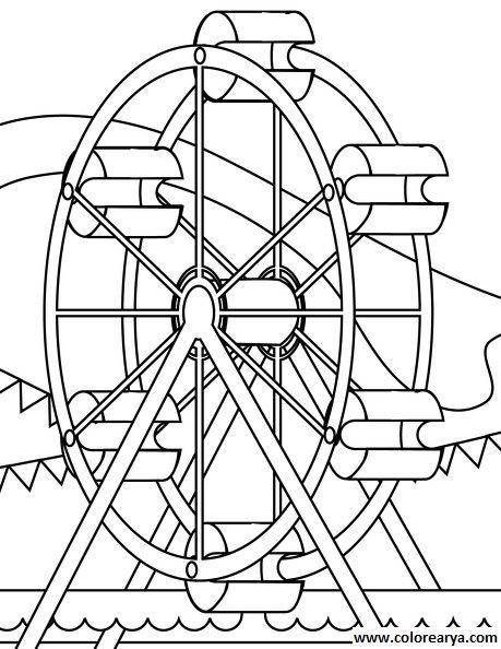 Dibujos para colorear de la feria - Imagui | Parque de diversiones ...