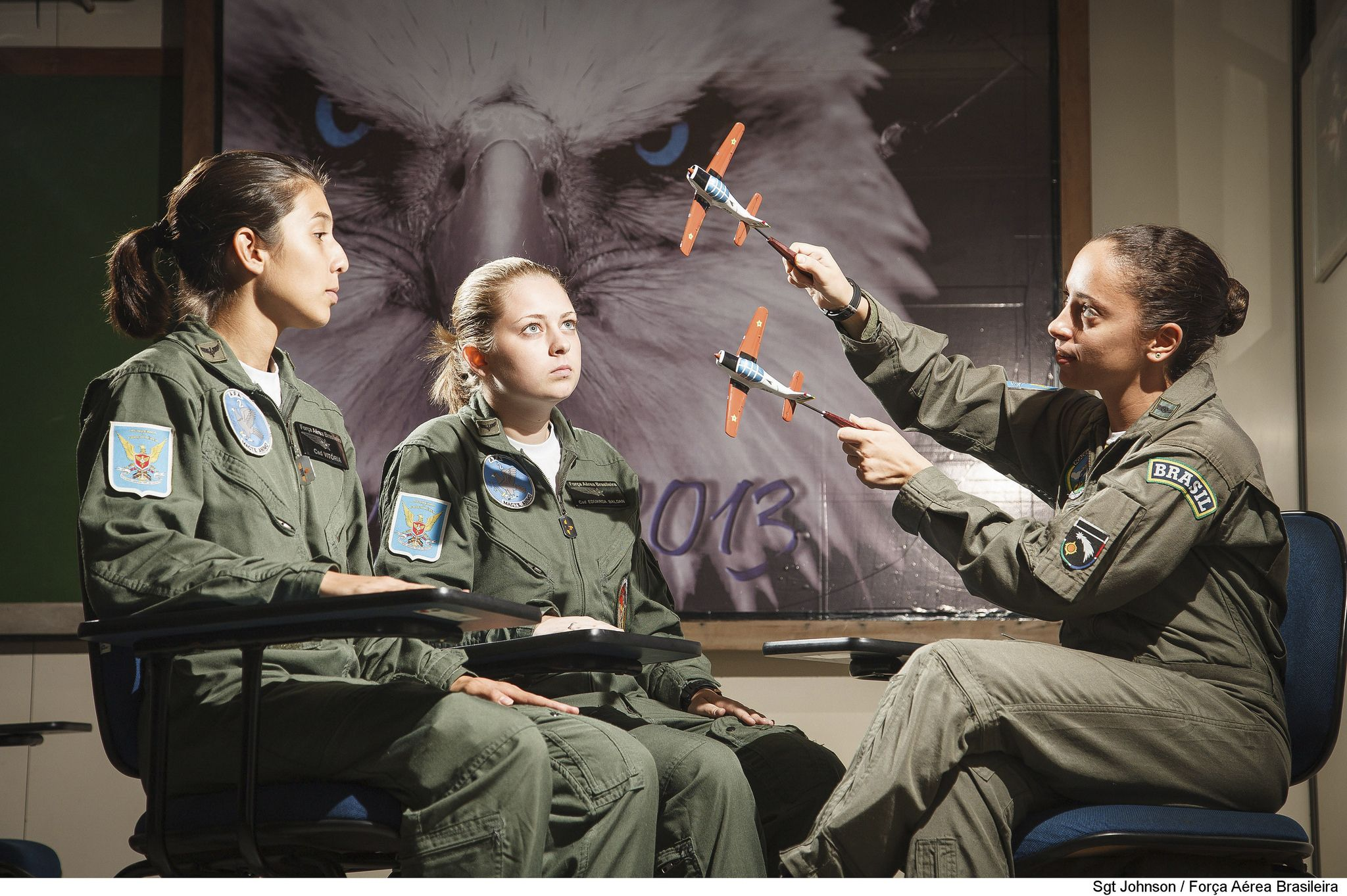 2º EIA Brazilian air force, Female pilot, Air force