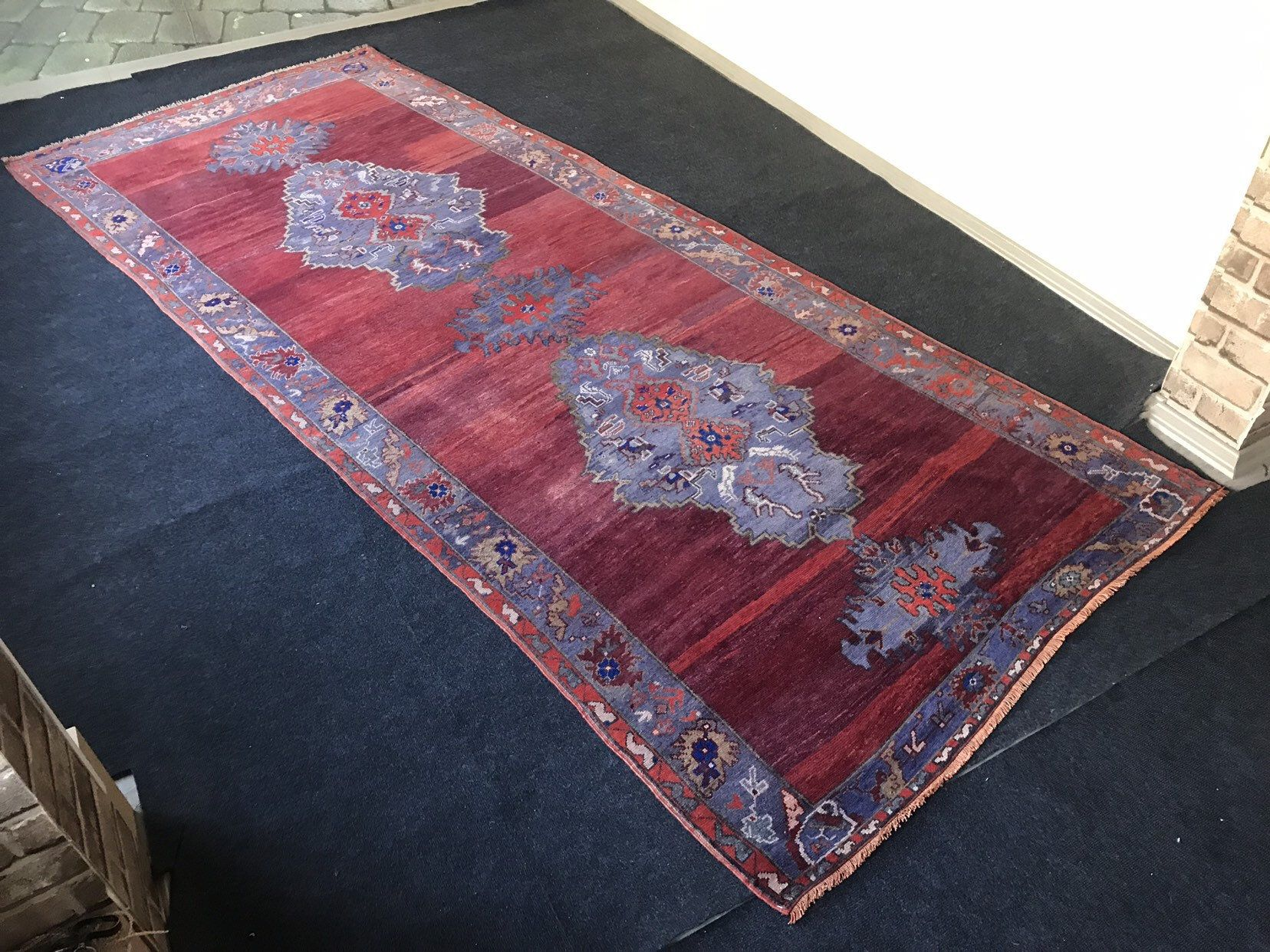 Hallway Large Rug Vintage Turkish Large Rug Oushak Turkish Large Rug Large Kitchen Rug Low Pile Muted Large Rug 4 10x12 Large Anatolian Rug In 2020 Large Kitchen Rugs Large Rugs Anatolian Rug