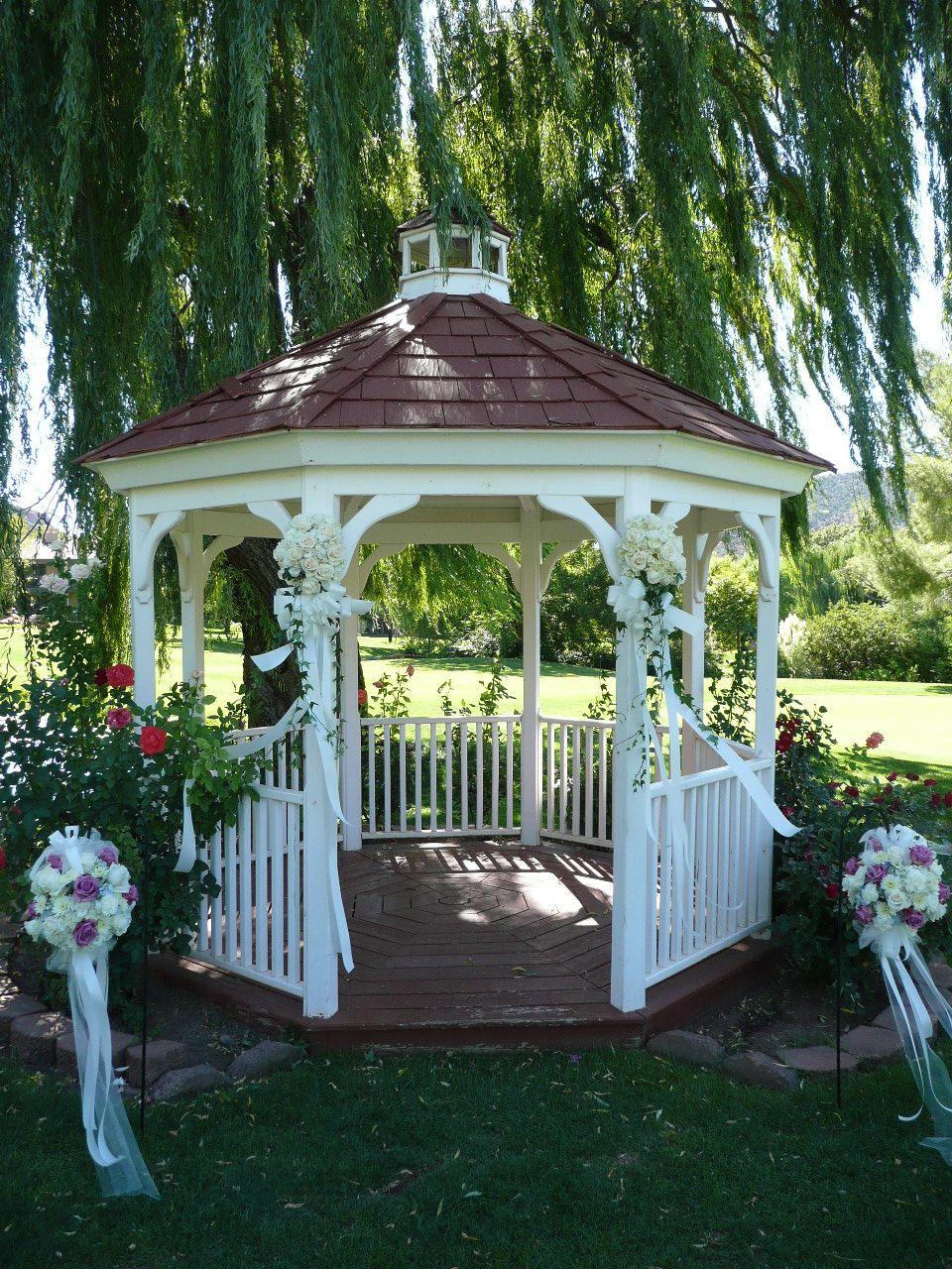 Gazebo Outdoor Wedding Decorations Wedding Gazebos Pinterest
