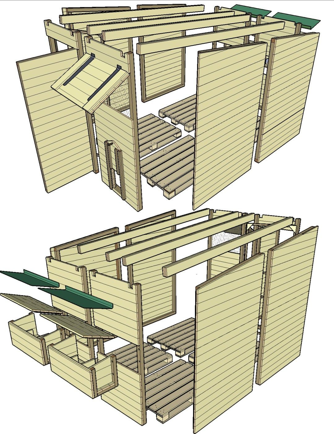 Construction D Un Poulailler En Palettes Modulable Plan Poulailler Palette Construction D Un Poulailler Plan Poulailler