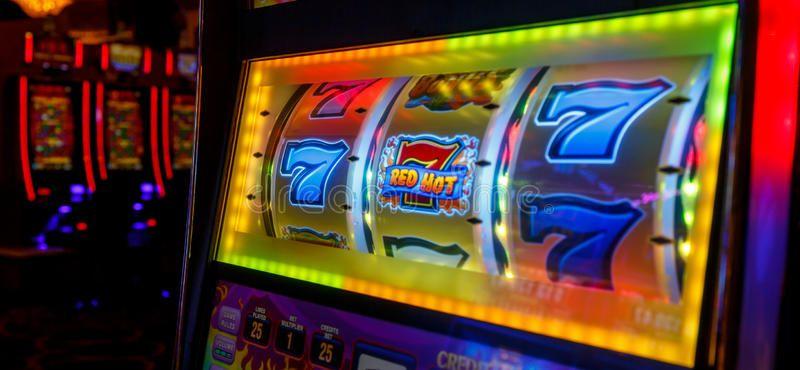 777 WINS by Las Vegas casino. Las Vegas night, long