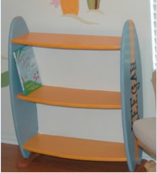 surfboard furniture. surfboard bookshelf bookcases furniture rooms for a prince and princess