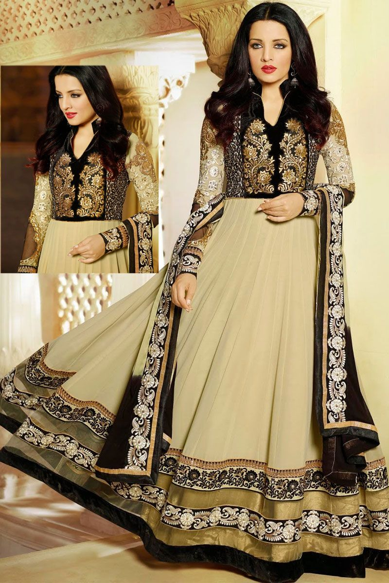 Black and cream yellow faux georgette festival lawn kameez sku code