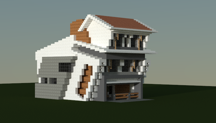 Strange modern house made in minecraft jar9 modern houses and