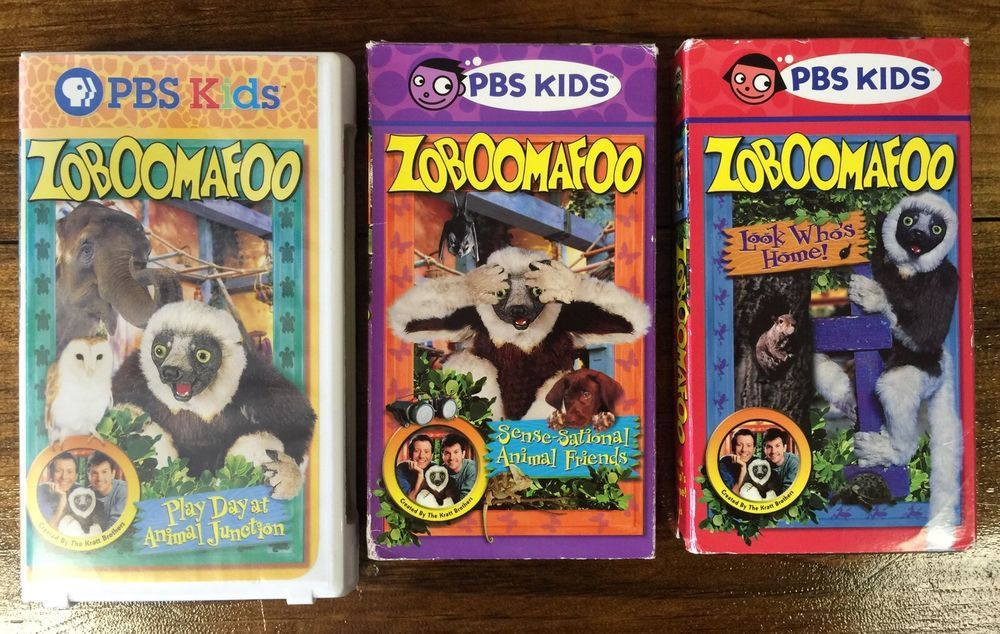 Lot Of 3 Zoboomafoo Kratt Brothers Animals Pbs Kids Vhs Videos
