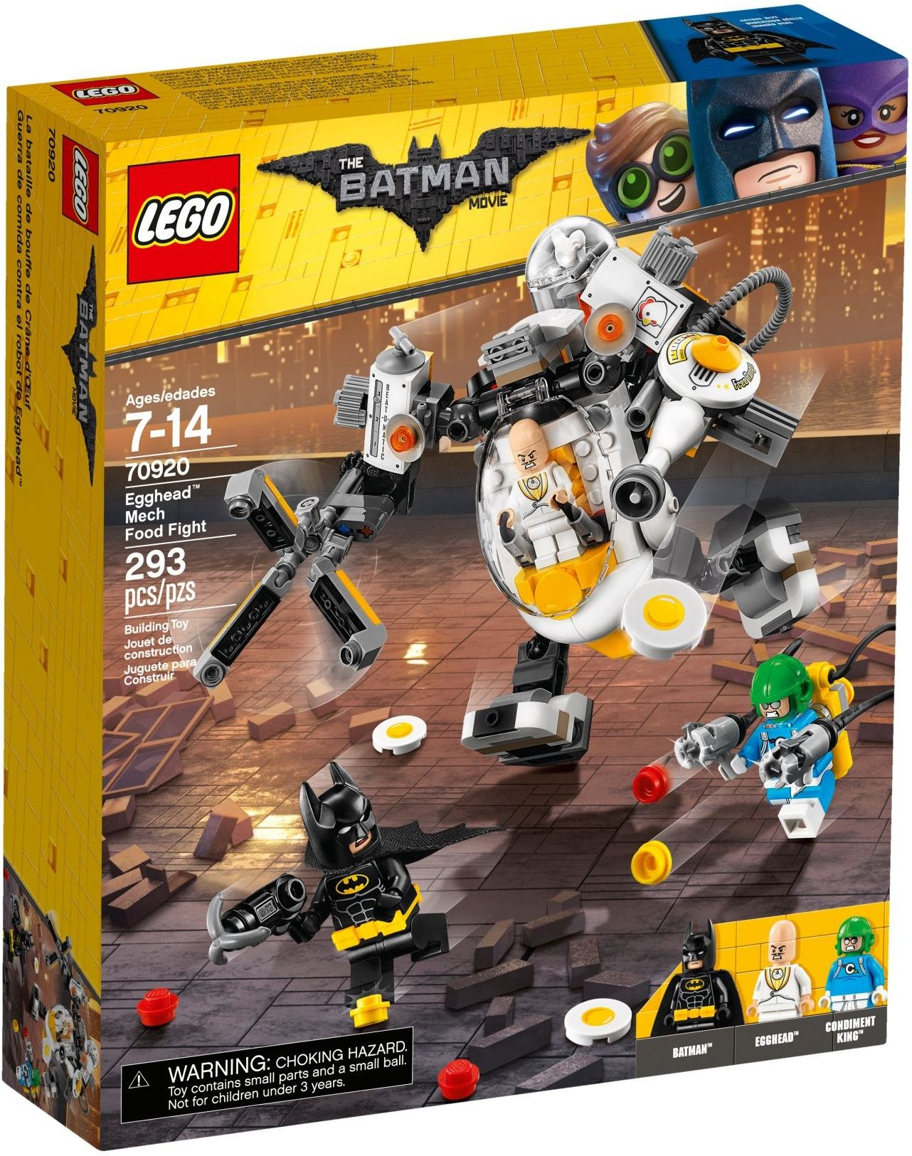 70920 Egghead Mech Food Fight With Images Lego Batman Movie