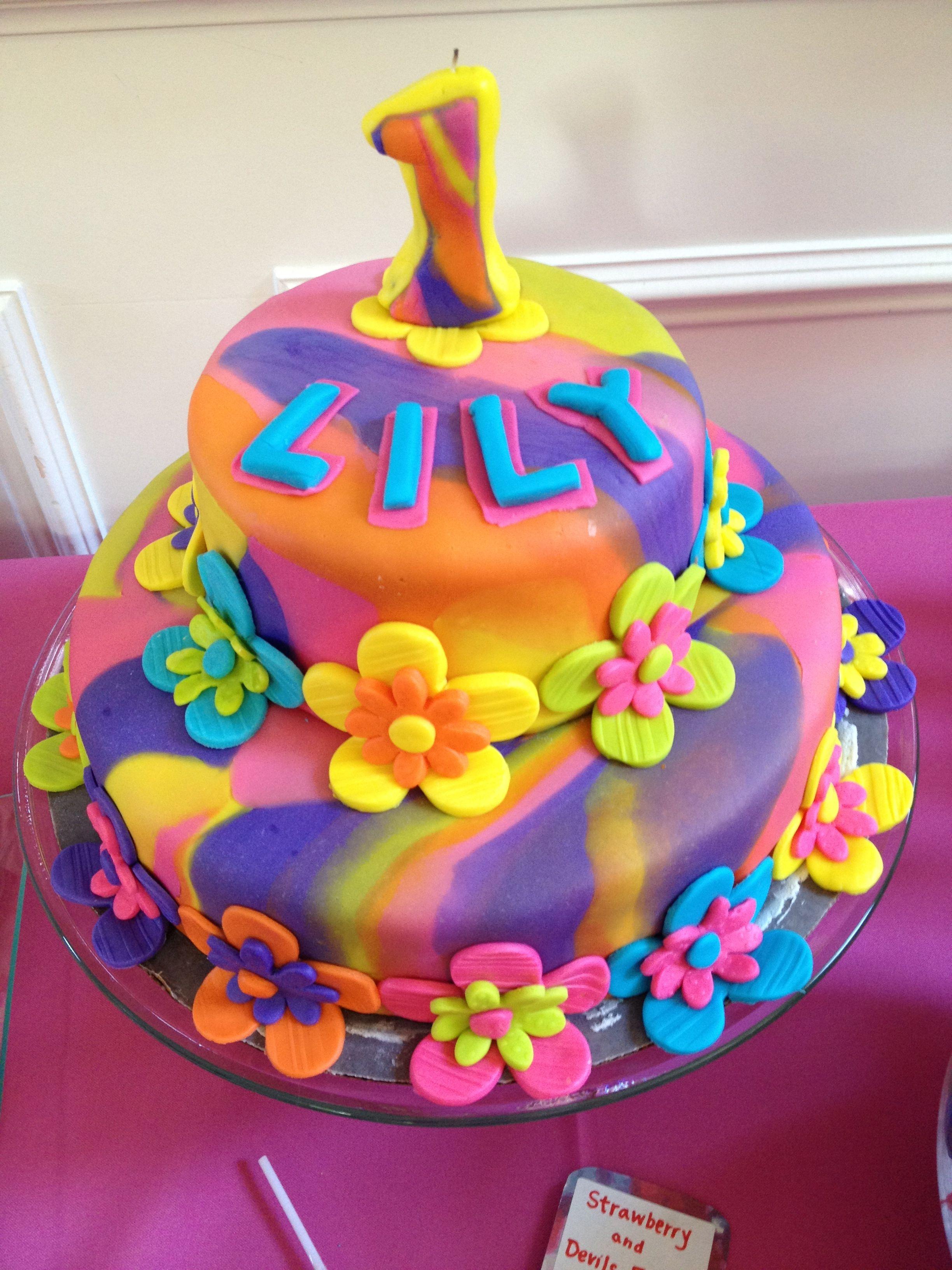 Tie Dye Birthday Cake