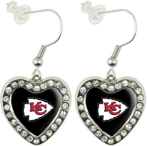 8ac0ba25 Pin by Kathleen Brooke on Chiefs Football | Heart earrings, Arizona ...