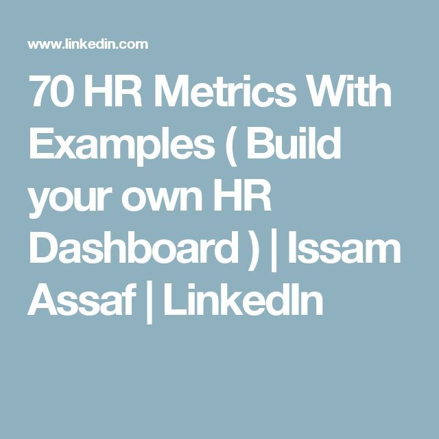 70 HR Metrics With Examples ( Build your own HR Dashboard ) Issam