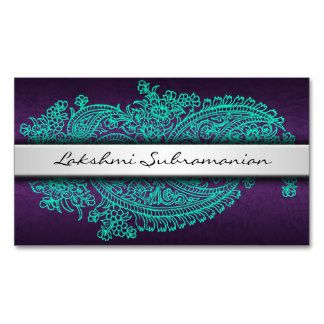Modern India Paisley Professional Business Cards Business Card