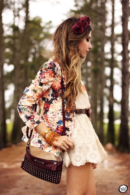 FashionCoolture - 24.09.2013 look du jour Vateno floral blazer (2)