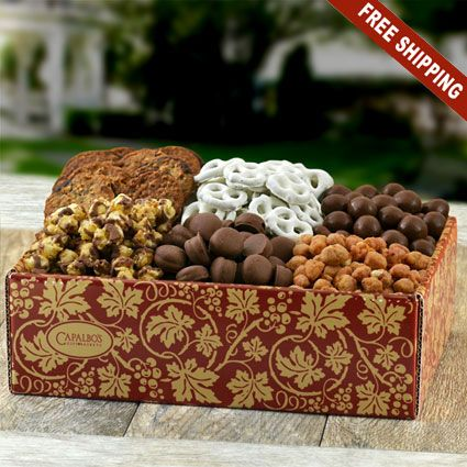 Super Snacker's Gourmet Gift Box-Capalbos Gift Baskets