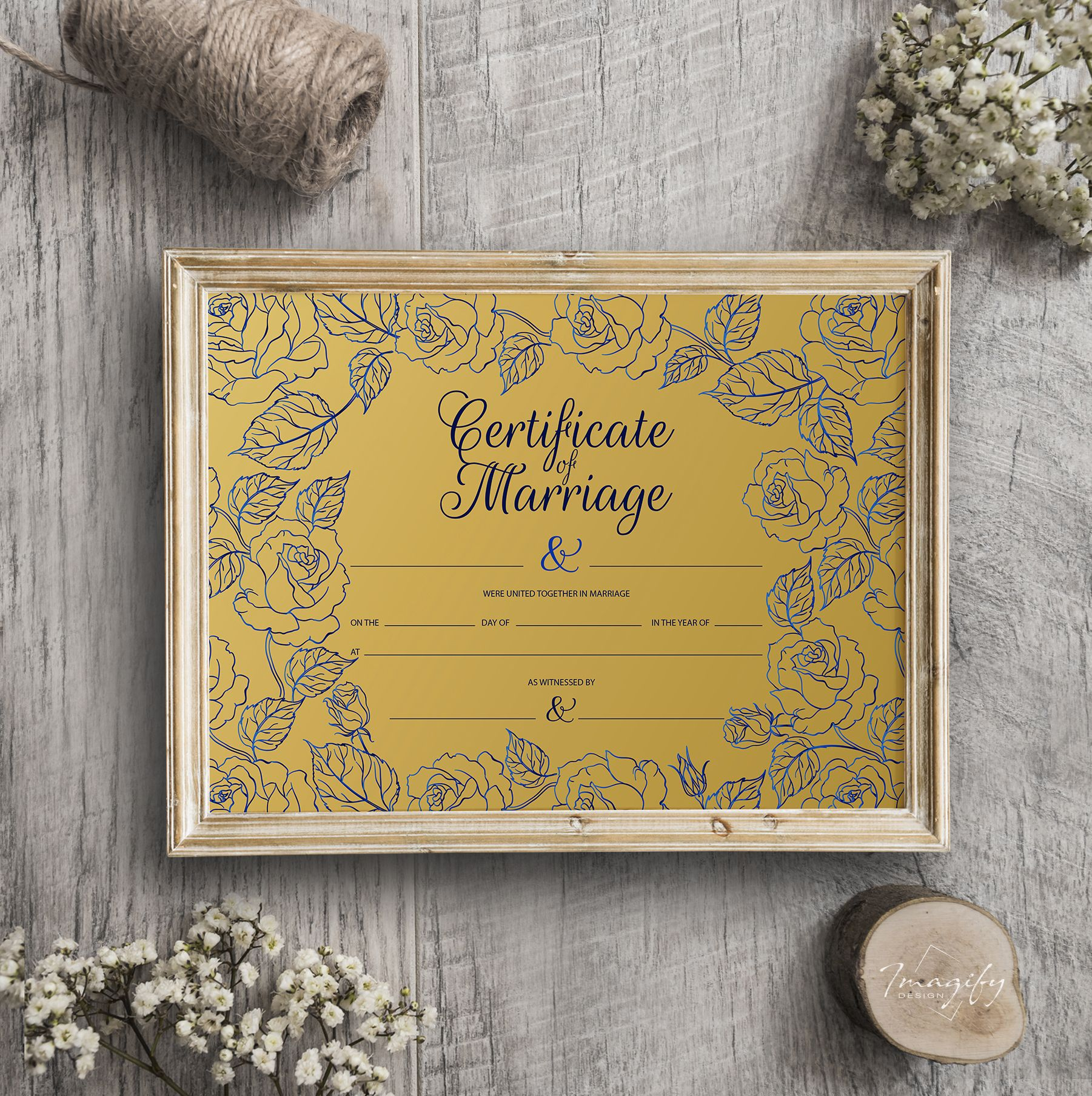 certificate marriage royal template simple printable