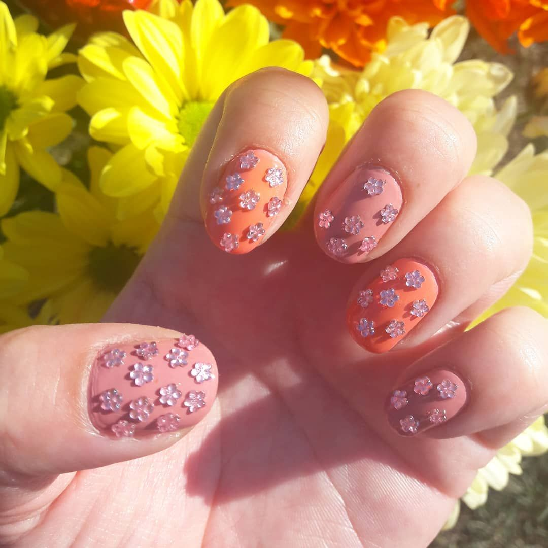 Used Some Pretty Flower Nail Art Decals From Charliesnailart Over 2