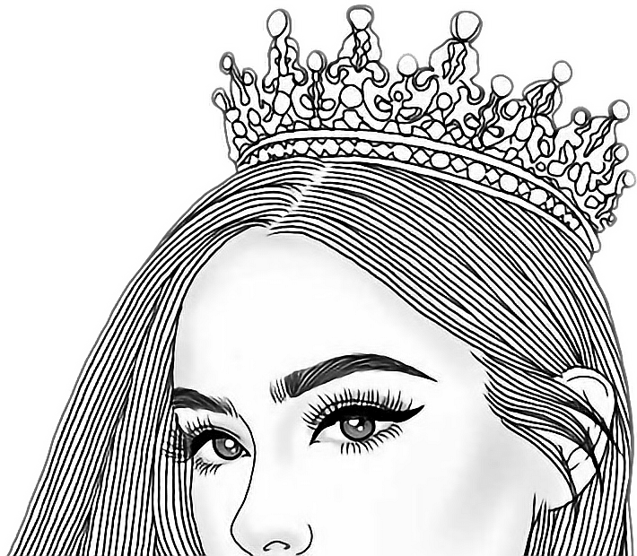 View And Download Hd Beautiful Girl Clipart Black And White Png Image For Free The Image Resolution Is Girly Drawings Art Drawing Images Girl Drawing Sketches