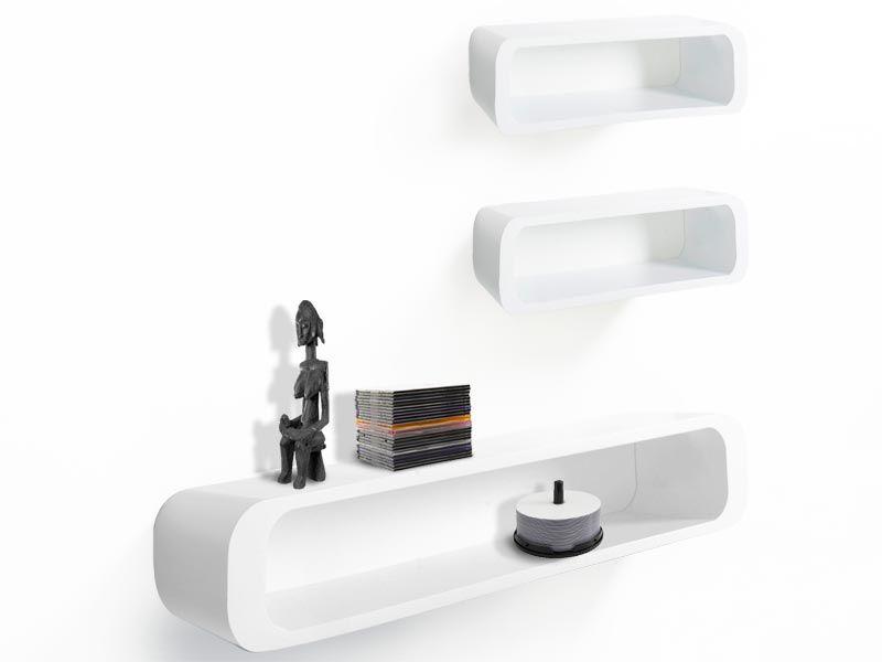Cube Regal Lennon Weiss casa pura® Wandregal kaufen - wohnzimmer regal weis