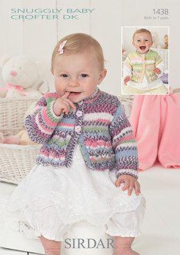 3553b78ecafe Cardigans in Sirdar Snuggly Baby Crofter DK - 1438