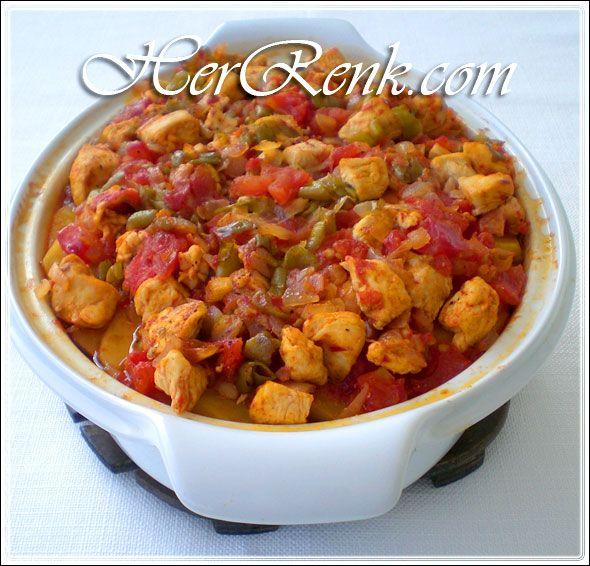 Tavuk Soteli Patates Oturtması-fırında patates yemekleri ...