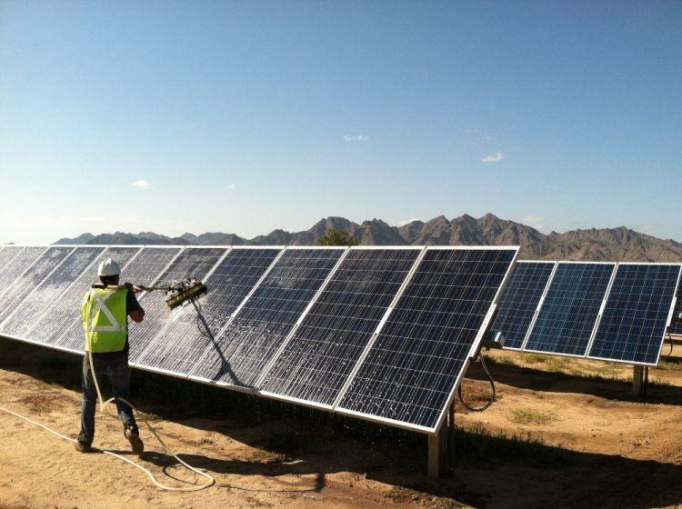 PV Tech Pool solar panels, Watercolor landscape