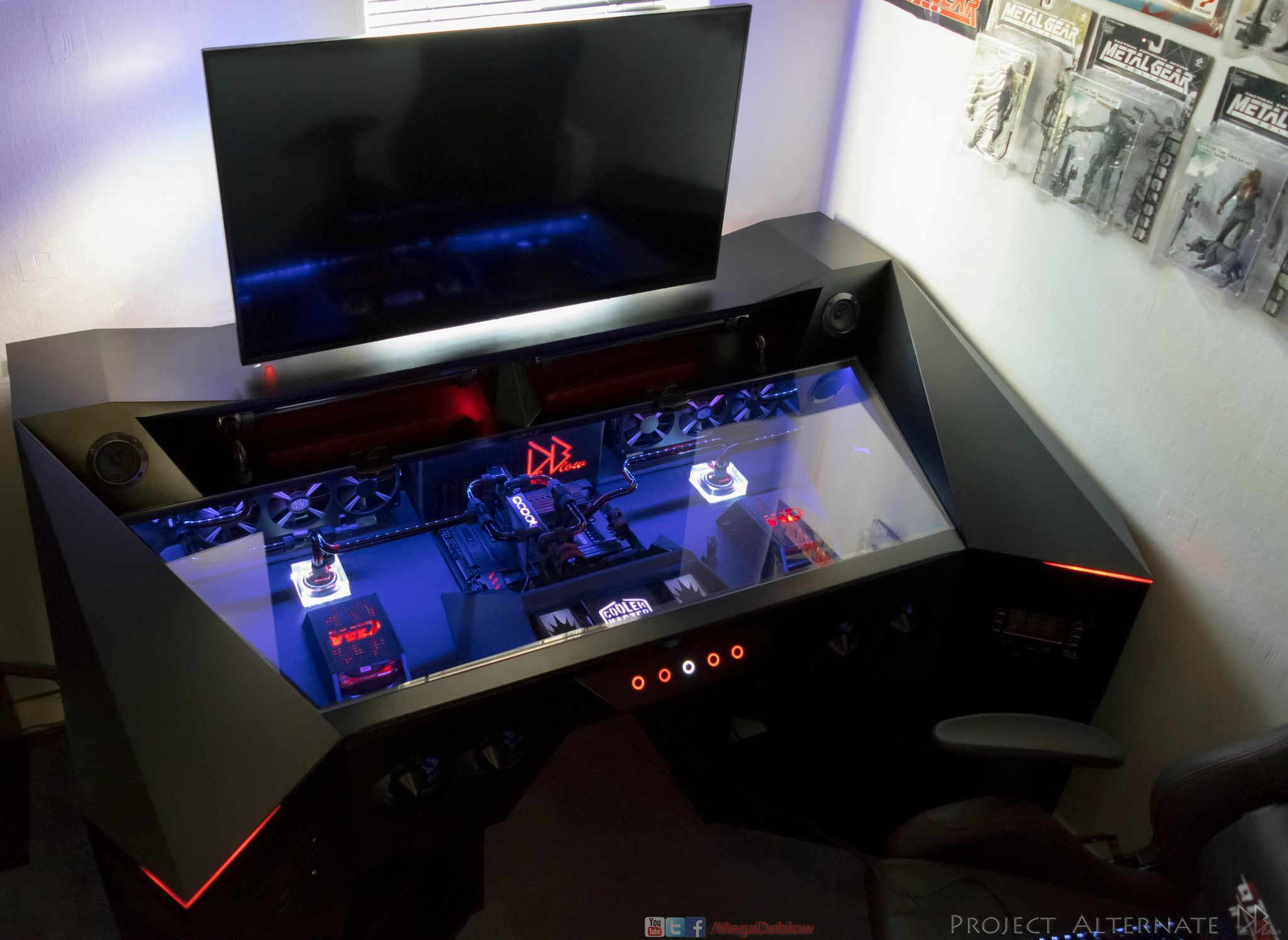 Check Out This Sweet Custom Desk Pc By U Deblow Over On Reddit Build Specs And More Http Imgur Com A Dhoe Gaming Computer Desk Gaming Desk Custom Pc Desk