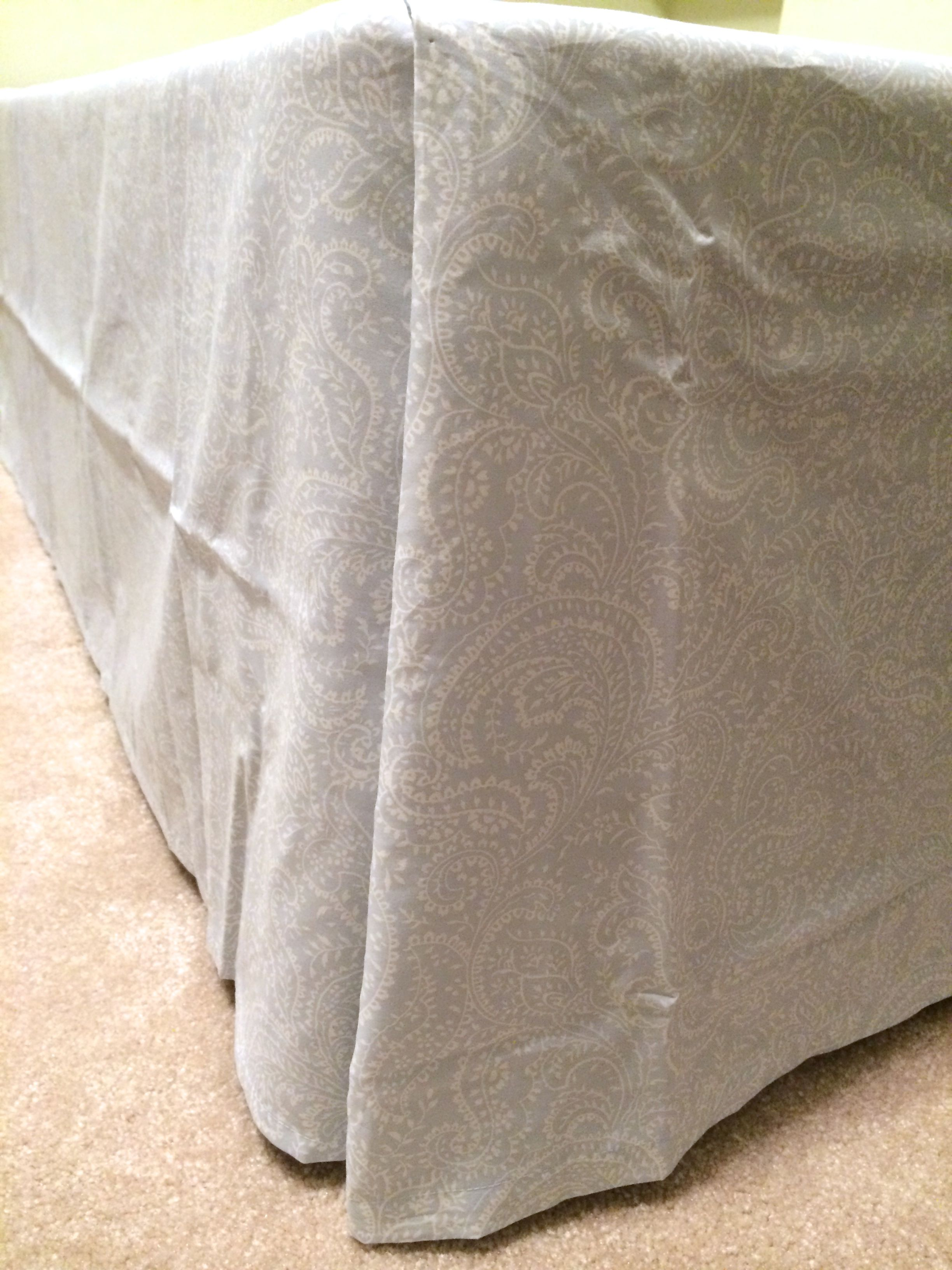 how to make gathered bedskirt