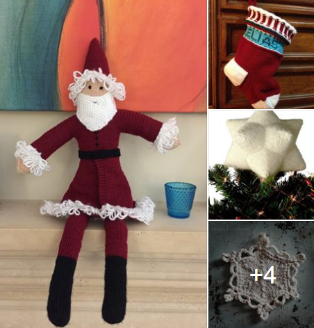Free Knitting Patterns For Father Christmas Wide Stocking Tree