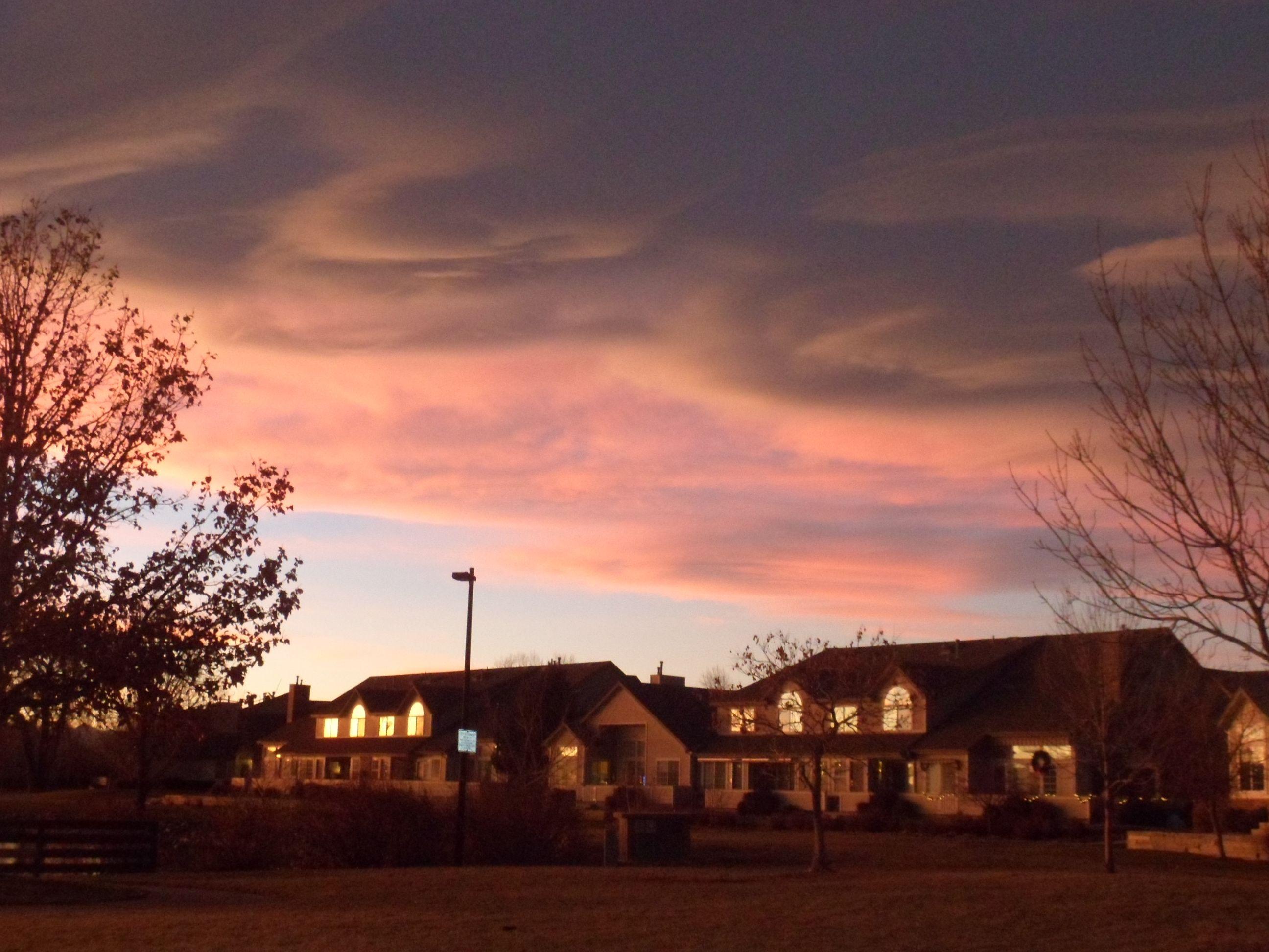 Hunters glen thanksgiving denver sunset pictures