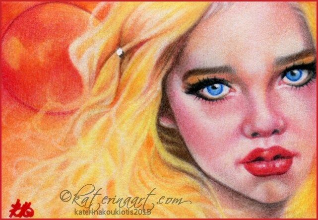 Blood Moon ACEO by Katerina-Art.deviantart.com on @DeviantArt