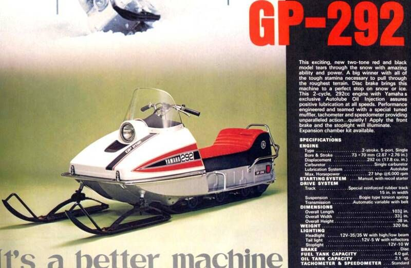 1971 Yamaha 292cc How Fun Vintage Sled Snowmobile Snow Fun