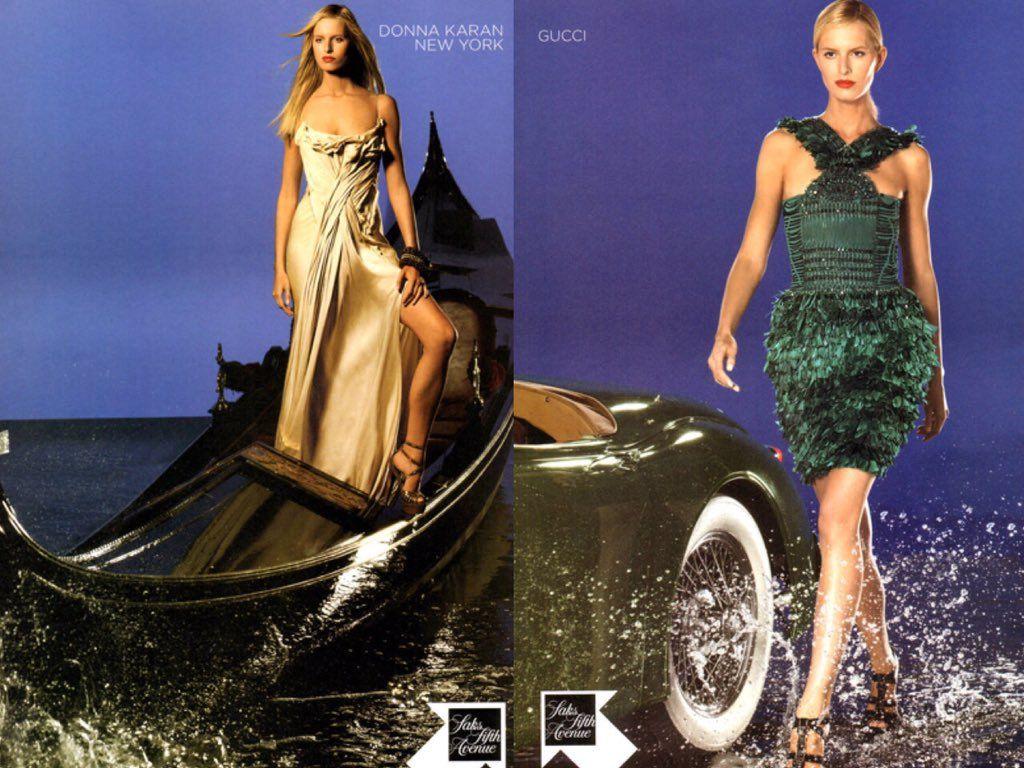 saks fifth avenue spring 2011 ad with karolina kurkova   Fashion ...