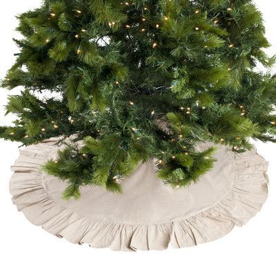 Saro Ruffled Cotton Tree Skirt Color Natural Products Pinterest